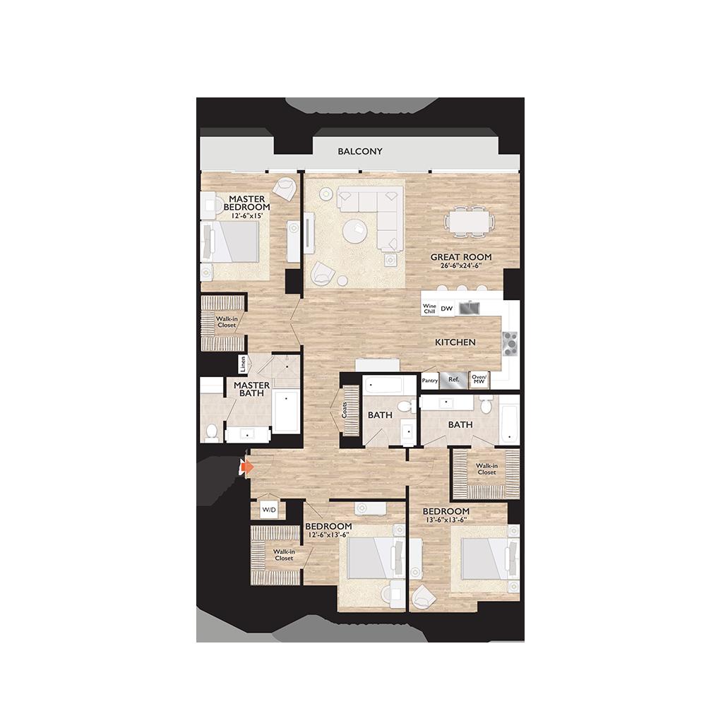 Penthouse C Floor Plan Diagram